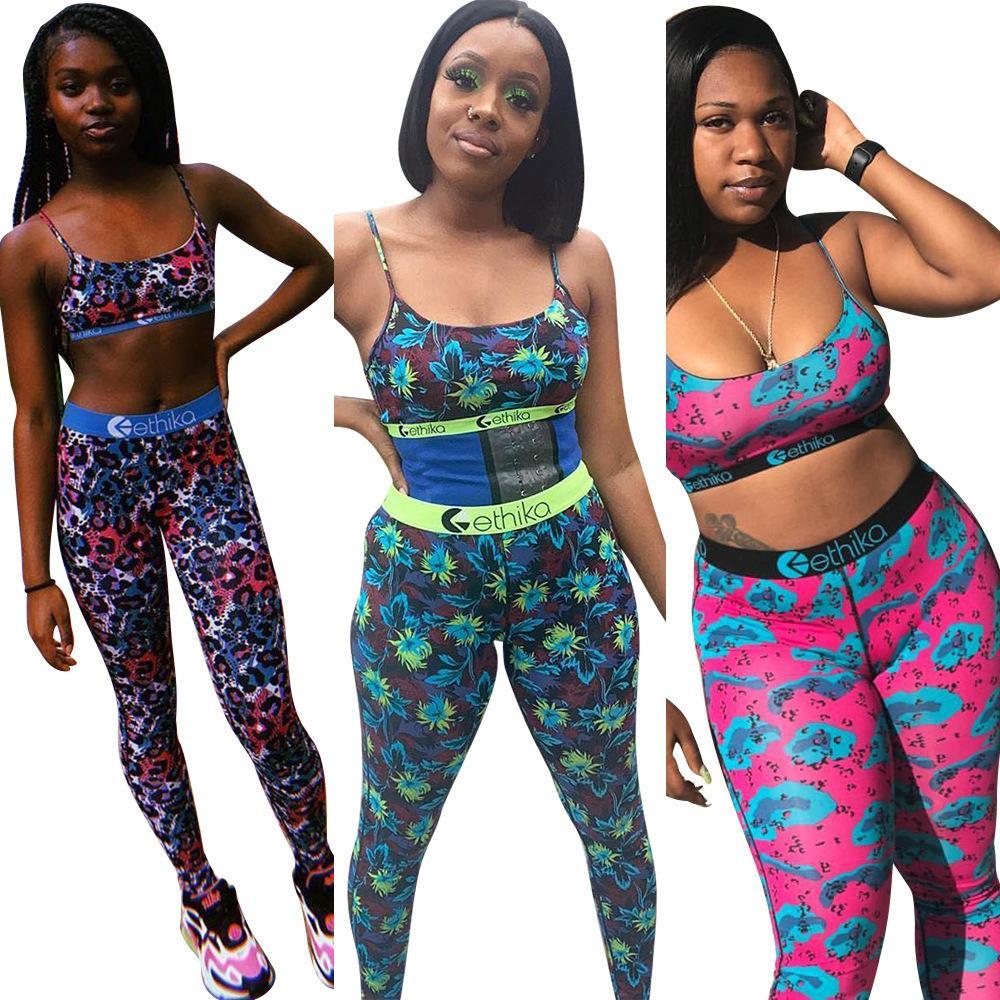 Kadınlar Ethika Sütyen Eşofman Kolsuz Bras Yelek + 2 Adet Set yazlık kıyafetler ETWS3 Spor GYM Spor Giyimi Legging Pantolon