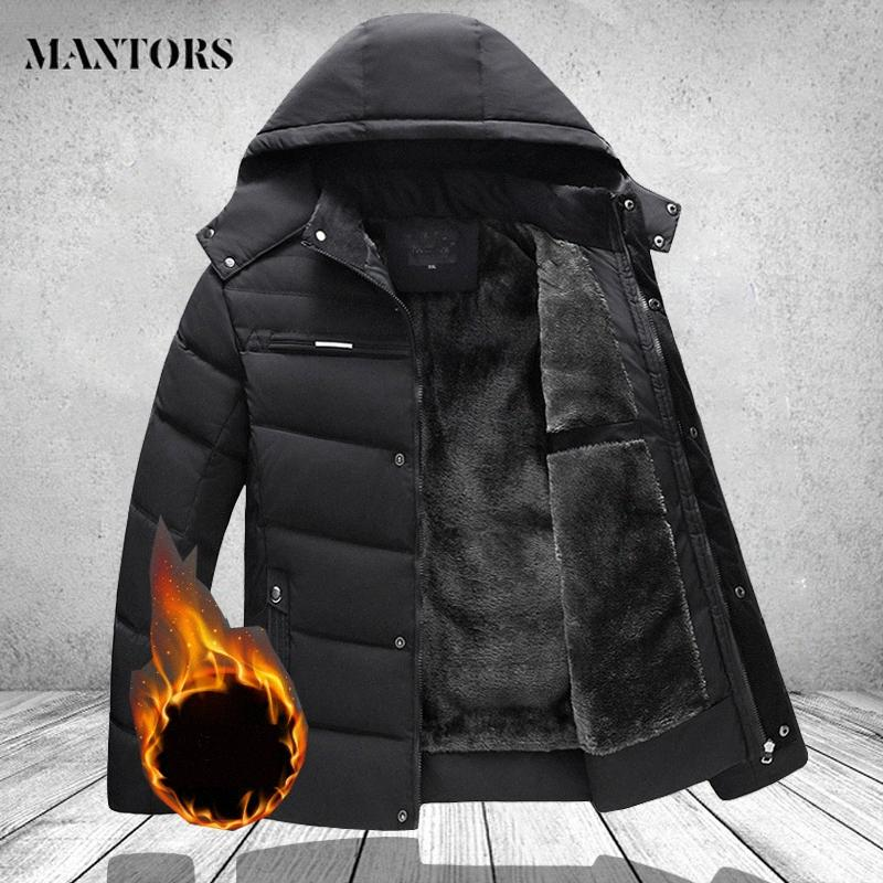 Winter Lange Parkas Männer Mode-Marken-Kleidung beiläufige starke warme Herren Winterjacken und Mäntel feste Kapuze Overcoat Männerkleidung T5te #