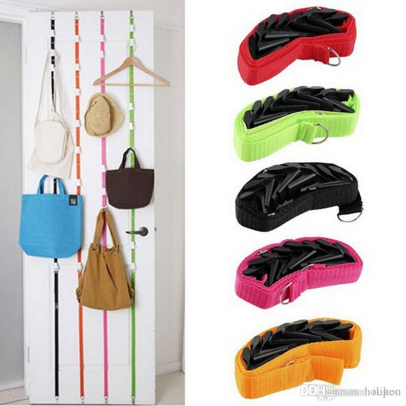 190x2.5cm Door Hooks Hanging Scarves Purse Hat Organizer Bag Hangers Cocina Tools Kitchen Bathroom Accessories Home Decor