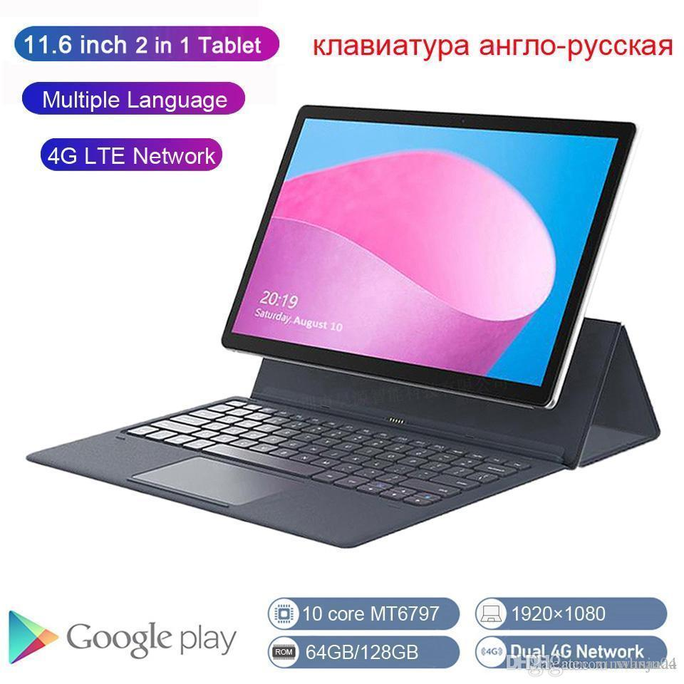 K20-S Global version 2 in 1 Tablet PC 4G Laptop 11.6 Inch Android With Keyboard MT6797 Kids Tablet GPS Ultrabook 66