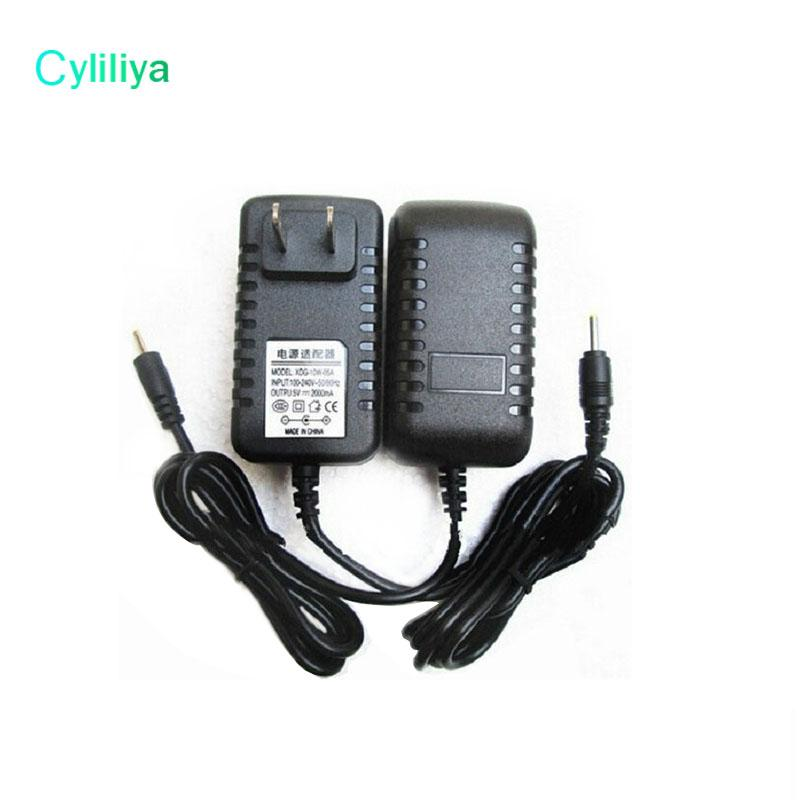 New 5V 2A Black Wall Charger Power Adapter 2.5mm US/EU Plug Adapters for android Tablet PC