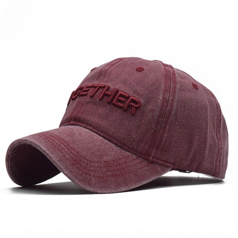 Новый хлопок шить старой промытой бейсбол бейсболки ВС ВС шляпы 3D стерео гладь регулируемых шлют защиты от солнца