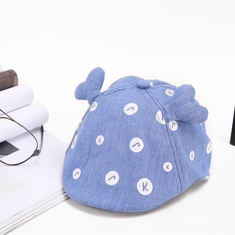 cornamenta de lunares boina sombrero de la boina de dibujos animados casquillo lindo de 2019 nuevos niños sombrero lindo del bebé del verano de las mujeres de los hombres y el otoño y