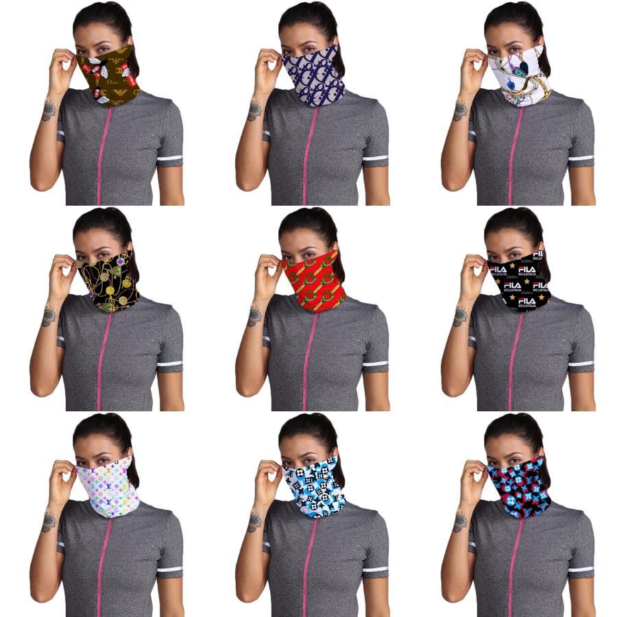 Uo3V3 Половина лица Маски шарфа Нос Er Велоспорт банданы шарф Дизайнер Trump оголовье Спорт Head Mask Face Защитные моющийся шарфы # 997 # 765