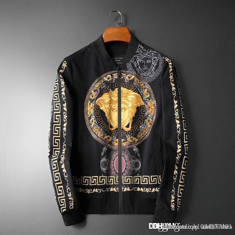 2019 горячих мужского designerJackets мужского дизайнерских пальто Мужчина Ветровка Streetwear мужских куртки Medusa Моды Верхней одежда пуловер