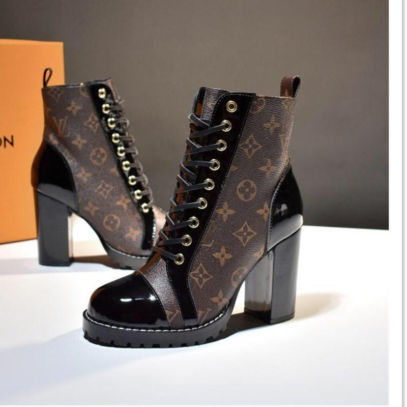 59 Новые высококачественные ботинки женщин, роскошь дизайнер женской обуви, на открытом воздухе путешествия партия обувь, оригинальная коробка упаковки