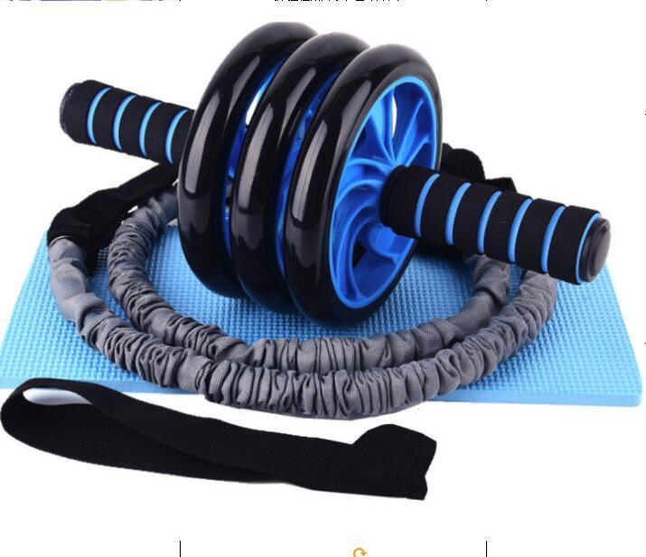 ABD STOK Ev Sessiz Karın Silindirler Cihaz Man İki Tekerlekli Sağlıklı Spor Ekipmanları Işık Ve Kullanışlı Siyah Yüksek Kaliteli FY6280