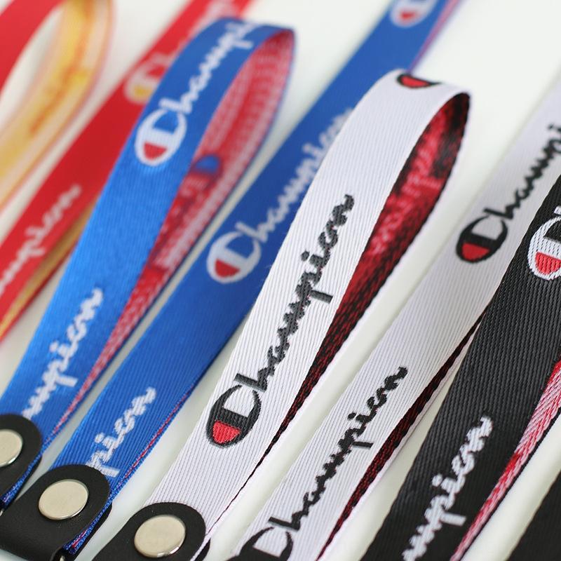 qx8GS Yeni nakış şampiyon cep telefonu dar yan kordon U disk anahtarlık bilek kolye cep telefonu Vaka vaka halat giyim m kordon