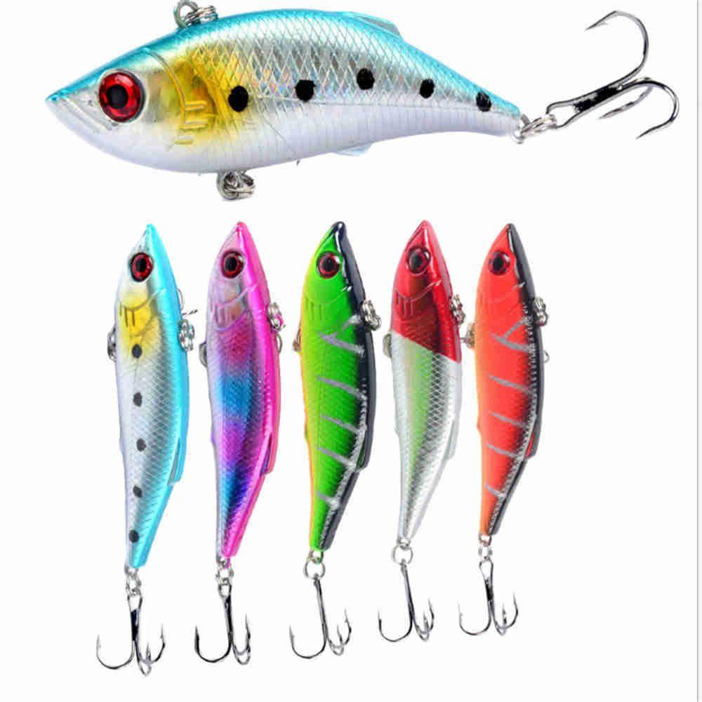 30pcs VIB señuelo de la pesca 10g 7cm 3D Ojos Wobbler cebo duro Bass Trolling Iscas Artificiais Crankbait Pike pesca de la carpa