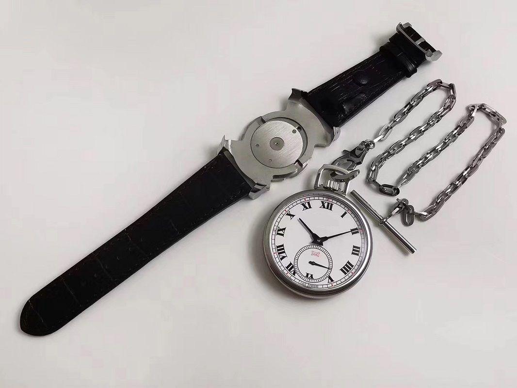 49.6mm men's watch 2 in 1 DUAL-USE POCKET+wristwatch pocket clock watch mechanical manual hand winding watches CHP L.U.C LUC 161923-1001