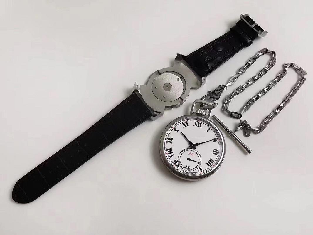 49.6mm의 남성 시계 2 1 듀얼 사용 POCKET + 손목 시계 포켓 시계 시계 기계 설명서를 손에 감기는 CHP L.U.C LUC 161923-1001 시계