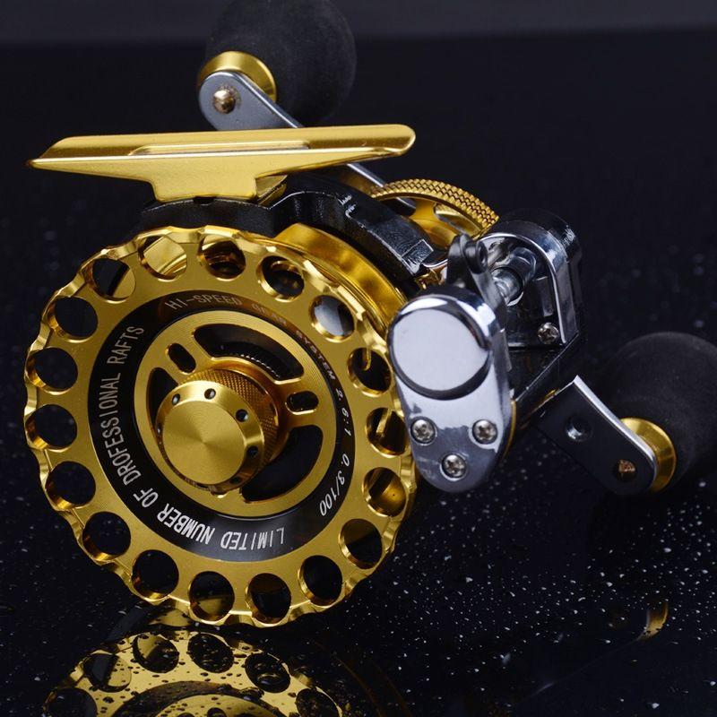 TjSeU Micro anti-agua de mar ascensor varilla balsa de ruedas pesca plomo miniatura balsa de hielo plomo automático de cable metálico con U Fishing ascensor rueda,
