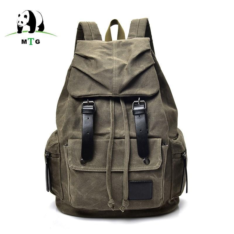 New Fashion Backpack Casual Men Male Backpacks Men Fashion Travel Bags Vintage School Laptop Bag Canvas Rucksack Men's