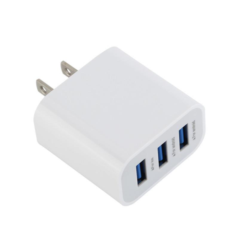 3-Liman 5V 3.1A Akıllı Seyahat USB Şarj Adaptörü Duvar Taşınabilir AB ABD Plug Cep Telefonu Şarj iPhone 7 8 Samsung s7 s8 android telefon mp3 için