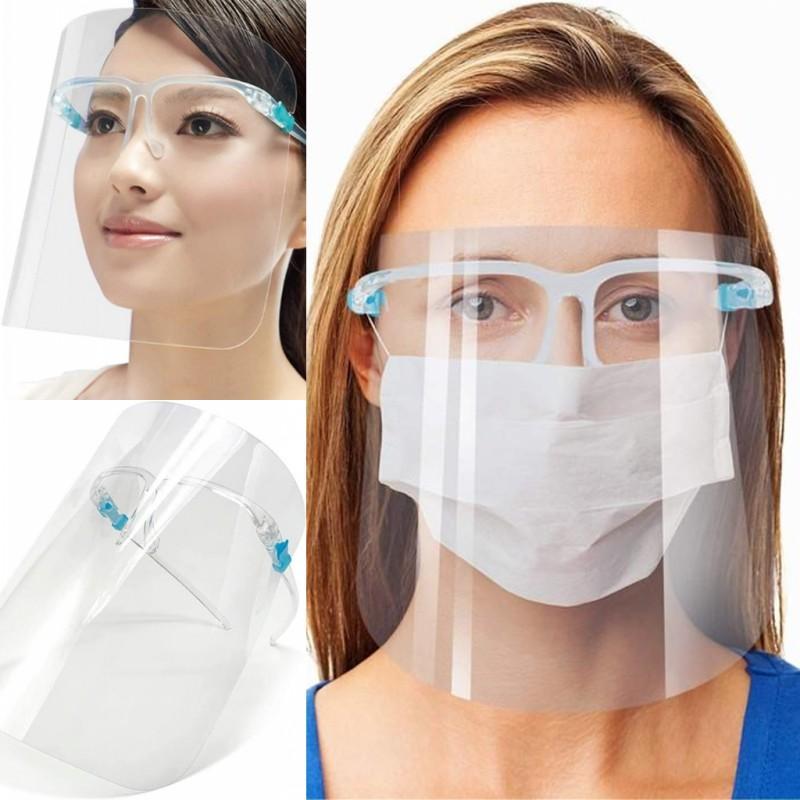 EEUU Stock, marco de seguridad Cara escudo vasos reutilizables anti salpicaduras Las gotas Cara Ojos Protección anti-niebla de la lente anti-salpicaduras de aceite