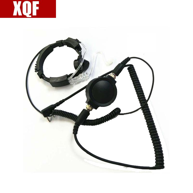 XQF Hot Covert Earpiece Grade Tactical Throat Mic Armpit PTT Headset with Finger PTT for KENWOOD Radio baofeng BF UV-5R