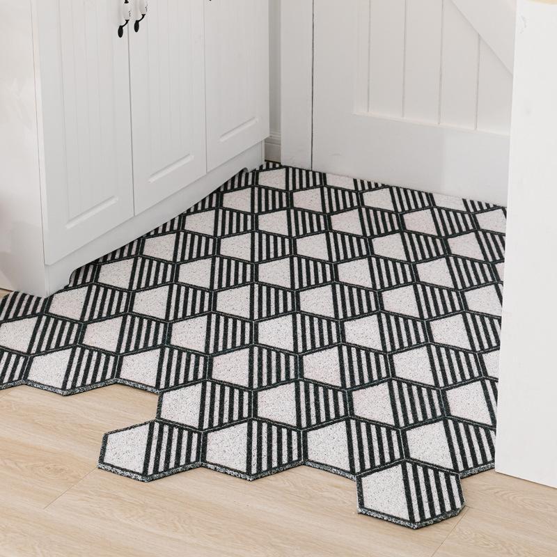Nordic Tür Startseite Teppichboden Seiden Ring Fußmatte tailable Teppich Eingang Net Berühmtheit Hausmatte Eingang