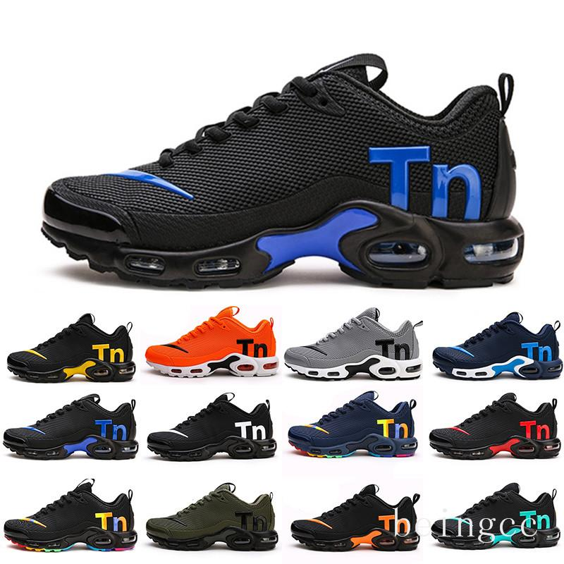 Mercurial TN Mens Designer Running Shoes 2019 Men Casual Air Cushion Dress Trainers Outdoor Best Hiking Jogging Sports Sneakers US 7-12 HJU5