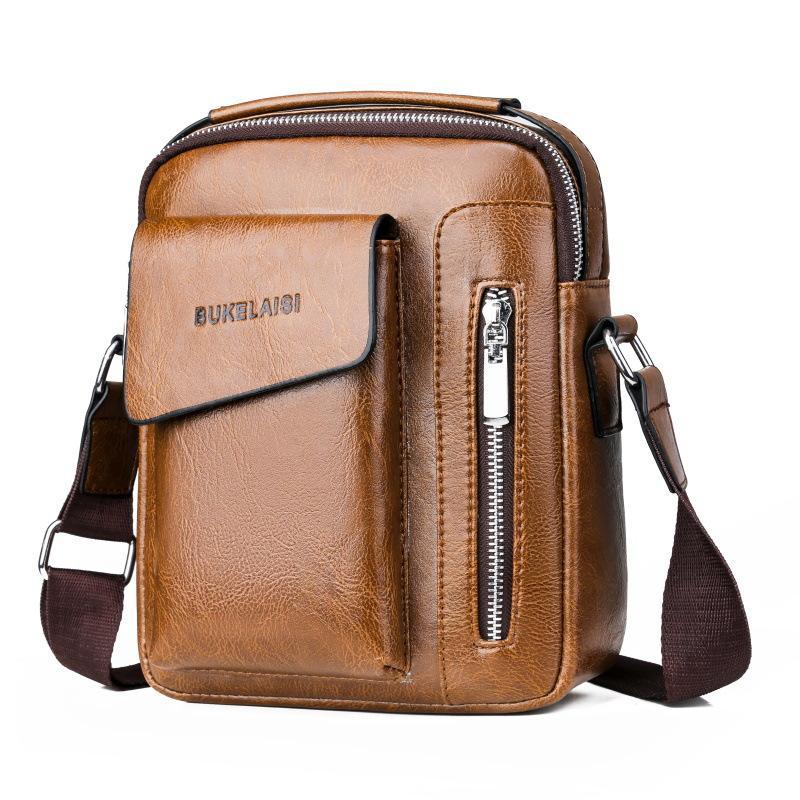 بو الجلود حقيبة بسيطة أكياس الهاتف المحمول أكياس طالب حقيبة واحدة الكتف حقيبة الذكور رسول صغيرة حقائب WJJDZ
