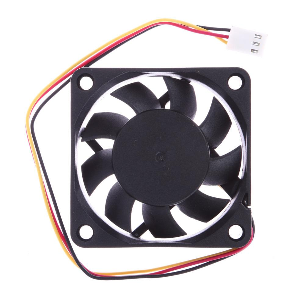 39cm Cable 1 Pcs 12V DC 6cm PC Cooling Portable Fan Ball Bearing 3 Pin Connector for P4 70 Degree Temperature Cooling Fans