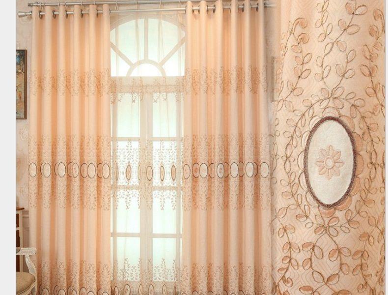 2020 vente chaude chambre villa palais de style européen tissu jacquard avec gros rideau de broderie de velours peut être personnalisé