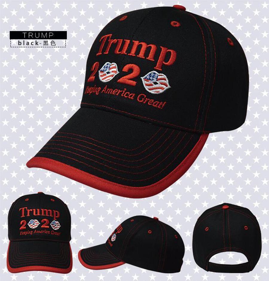 2020 Baseball Flag Cap Snapback Lip bordado Hat 3 cores chapéus do partido