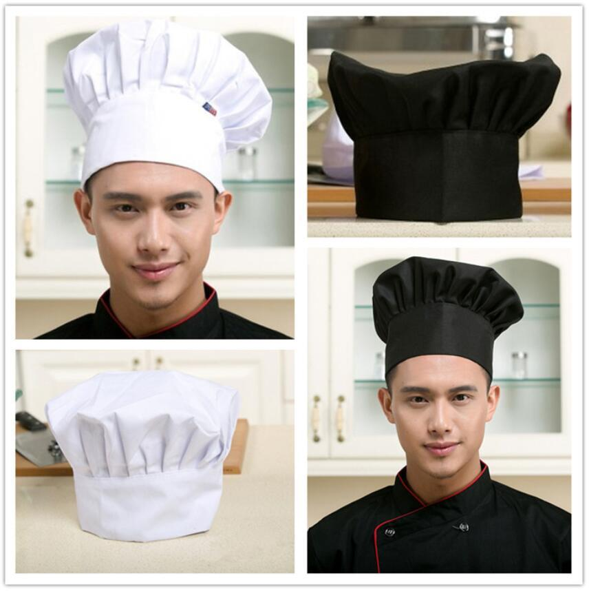 Printing Men and Women Chef Hat Restaurant Kitchen Hotel Food Service Waiter Work Cap Barbecue Mushroom Hat Wholesale 8 Colors