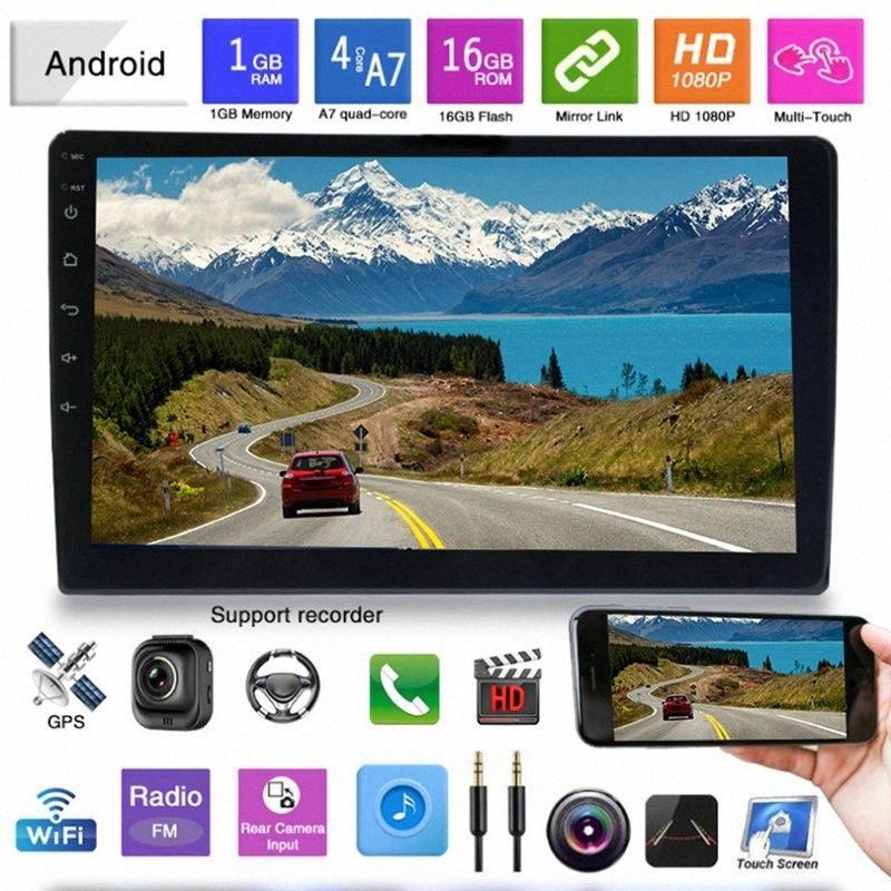 9 인치 안드로이드 8.1 쿼드 코어 자동차 스테레오 라디오 플레이어 HD를 눌러 화면 스크린 GPS BT OBD 조정 네비게이션 자동차 DVD 비디오 플레이어와 DVD Bb34 번호