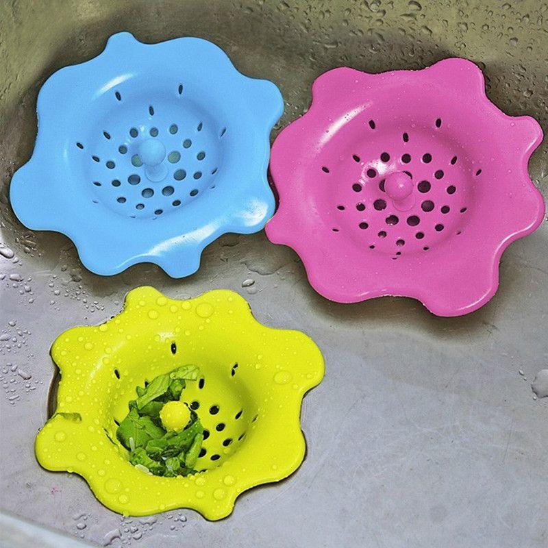 Silicone Cucina Bagno Sink 1 pc scarico Filtro filtro di scarico Coperchio tappo rifiuti Piano evitare l'intasamento