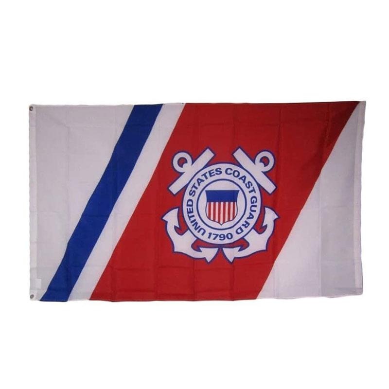 USCG United States Coast Guard Anchors Wappen-Emblem Siegel Flagge Polyester-Drucke Sportmannschaft Schule Fitnessraum im Freien freien Verschiffen