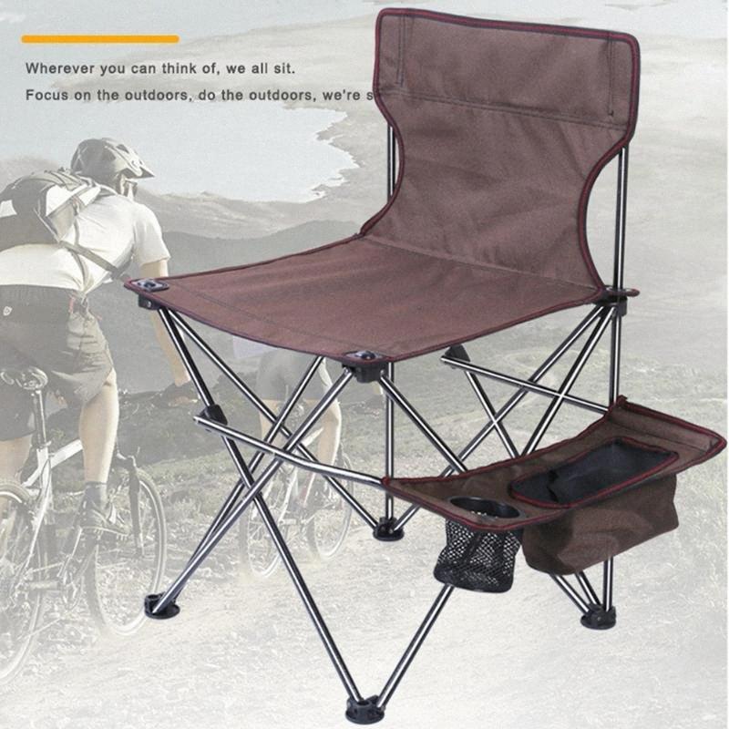 Silla plegable portátil al aire libre de tela Oxford ultraligeros sillas de pesca de malla Asiento de heces para acampar picnic en la playa Pesca herramienta xwLD #