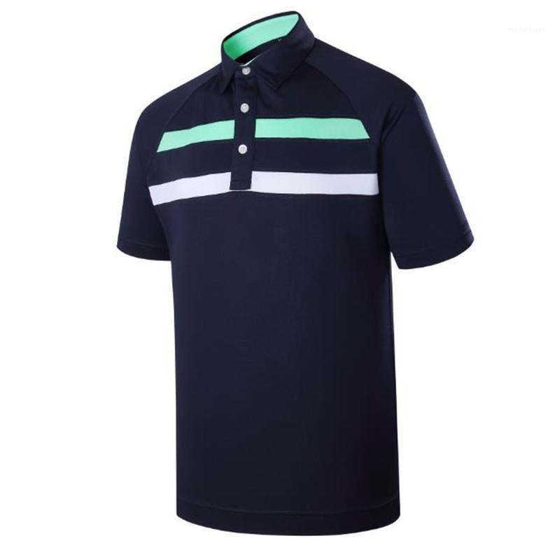 Designer d'été à manches courtes Polos Lapel Neck Mens Tops Fashion Tennis Golf Sports Hommes T-shirts rayé Imprimer Mens