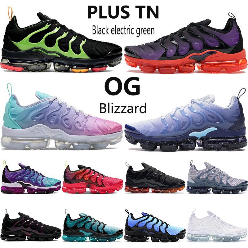 Nuovi uomini donne più Tn scarpe da corsa elettrica nera oro metallizzato costiera mare blu rosa verde essere mens veri OG all'aperto Sneakers