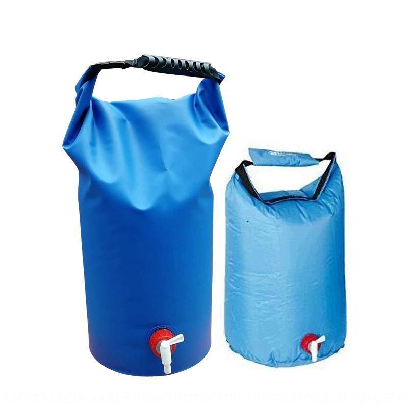 Nuevo aire libre a la deriva cubo de playa deriva cubo impermeable de PVC con malla impermeable nueva bolsa de baño al aire libre baño bolsa