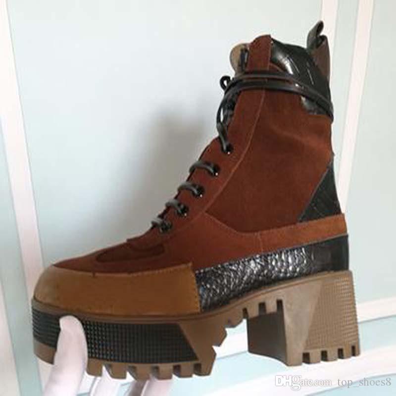 ÚLTIMO botas de tacón super calientes de las mujeres de la moda CHUNKY LAUREATE PLATAFORMA DESERT BOOT Mujer botas de END RR3