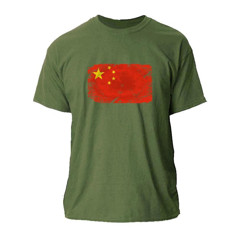 China Stampa FLAG MENS MAGLIETTA DI IDONEITÀ Mens T Shirt WOMEN S-3XL MANICHE CORTE STREETWEAR MAGLIETTA UOMO COTONE SEMPLICE HIPHOP