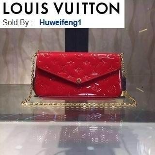 huweifeng1 opp GM M61267 chain bag cherry red HANDBAGS SHOULDER MESSENGER BAGS TOTES ICONIC CROSS BODY BAGS TOP HANDLES CLUTCHES EVENING