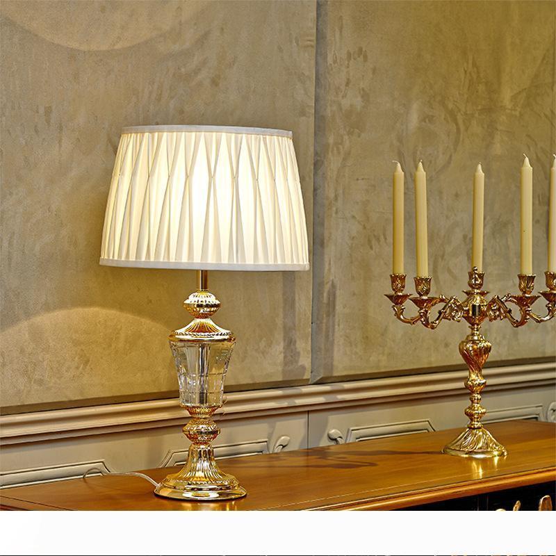 Minimalista moderno E27 camera da letto lampada da tavolo in cristallo lampada da comodino di nozze creativa lampada da tavolo soggiorno Tavolo decorativo LR004 luce