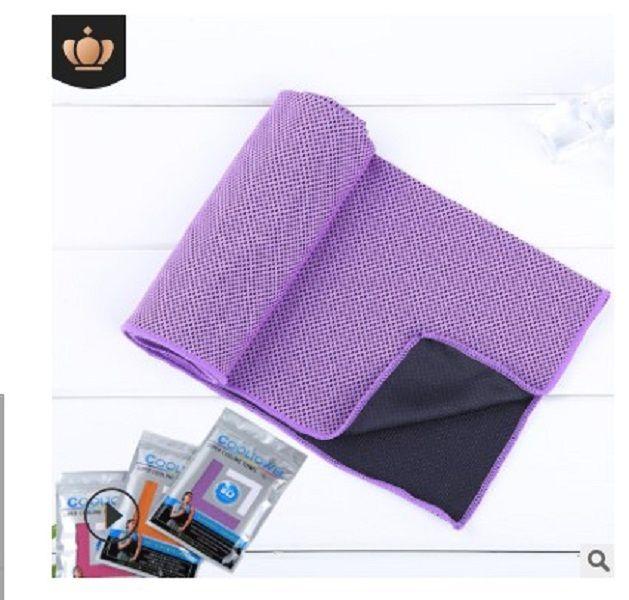 2020 heißen Verkauf Handtuch Beliebtes Sommer Artefakt Fitness-Übung kaltes Handtuch Kühlung kaltes Handtuch Heimtextilien Violet