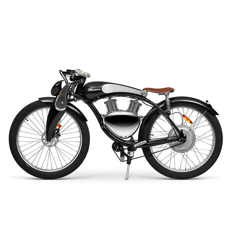 Retro-Luxus-Ebike-Stil Leistungsstarker elektrischer Motorrad-Roller Munro 3.0 mit Pedal-Assist-E-Bicycrycruiser E-Bike