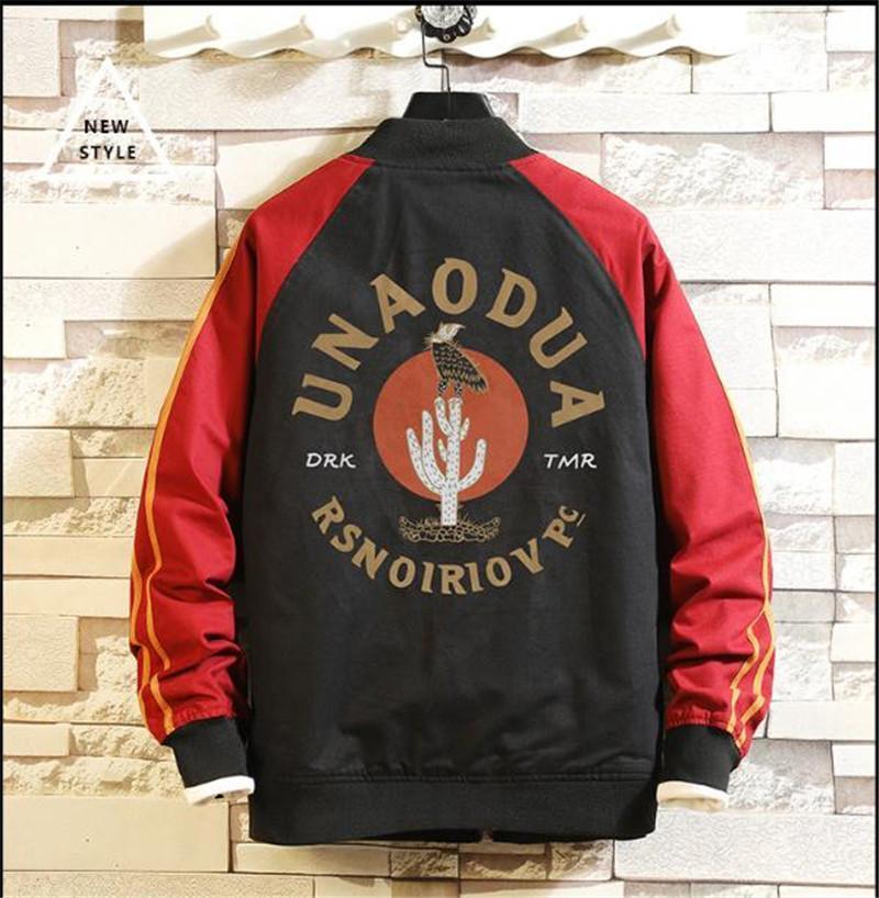 Sonbahar Erkek ceketler Patchwork O Yaka Uzun Kollu Kış Erkek Tasarımcı ceketler Beyzbol Coat Hip Hop Streetwear Çiçek Mektubu