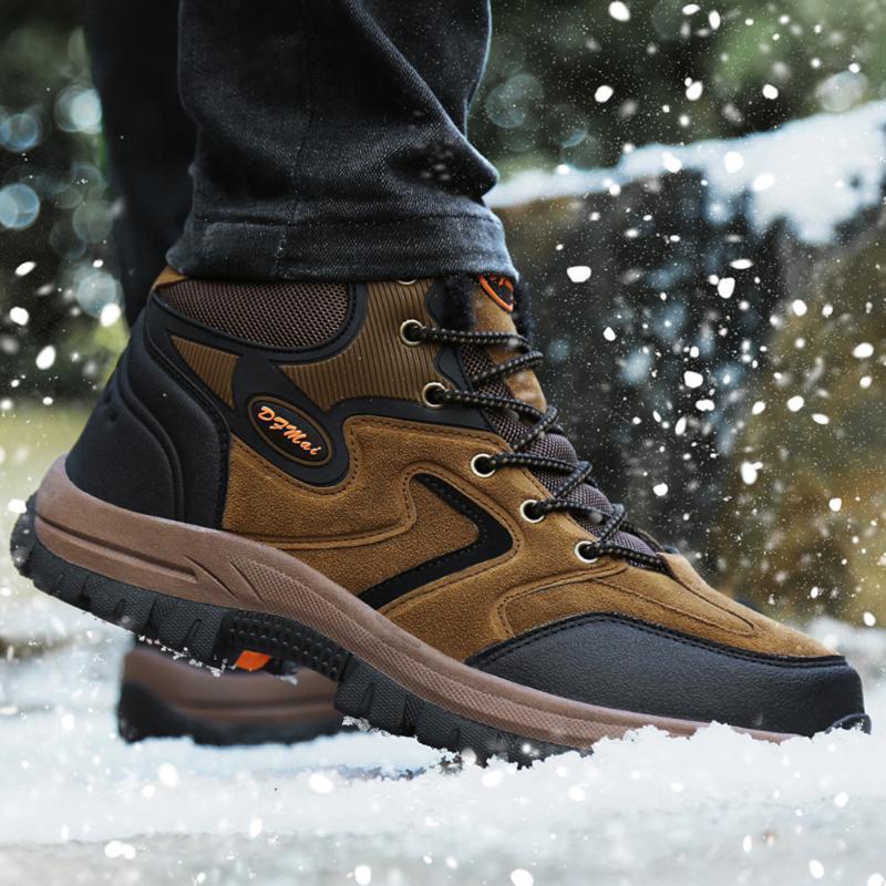 2020 Fahion inverno alpinismo scarpe Per Coppia Suede tenere in caldo antiscivolo Lace-Up Unisexual Sport Sneakers # 3