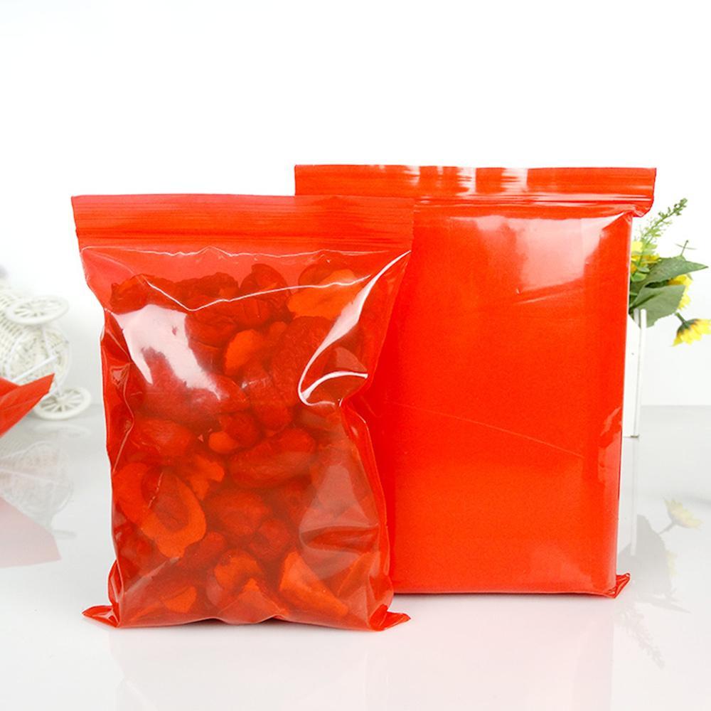 Оптовая красный пластиковый пакет сумка Многократно закрывающаяся Zipper Упакованный Чехол Candy Nut Упаковка Мешок для электронных ювелирных изделий хранения