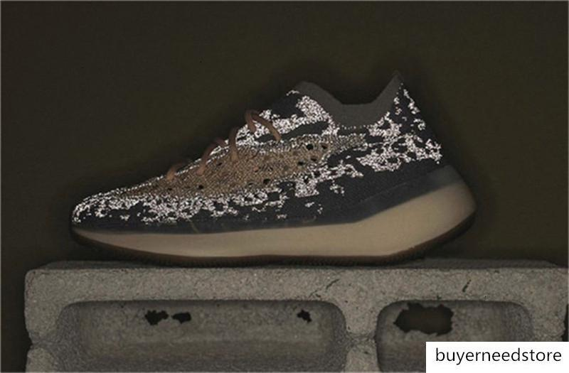 Seksi Otantik Originals 380 Mist Yansıtıcı 3M yabancı Kanye West Ayakkabı Erkekler Kadınlar Spor Sneakers 36 46 5 Running