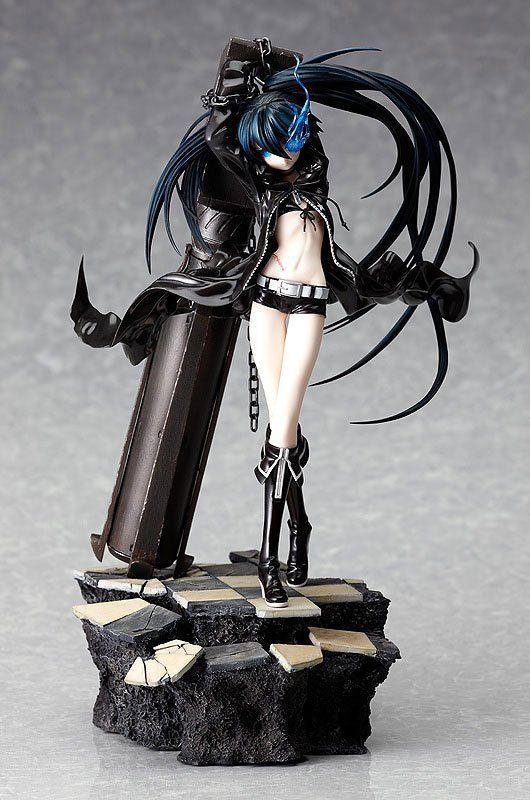 Alta qualidade 29 centímetros japonês sexy anime figura Black Rock Shooter escuro Miku Adolescente ver. com canhão MX200727