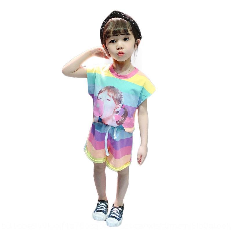 lIsRi 2020 Жилета одежды лето западного стиля новых девушки детской костюм Sports майки детской одежды для девочек детской одежды 0-4 года