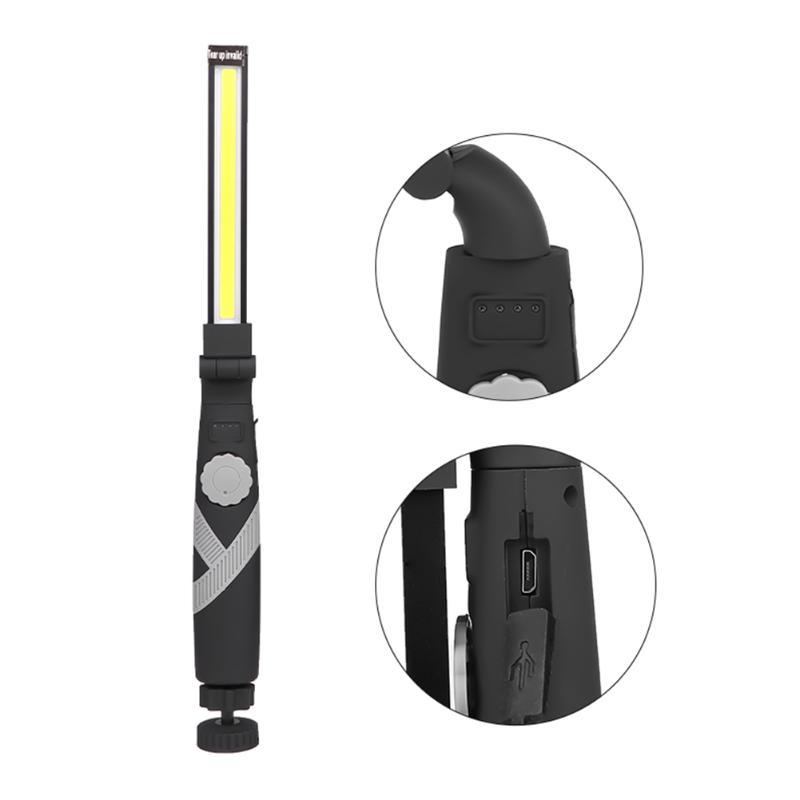 3000LM Rechargeable COB LED Slim Work Light Lamp Torch +USB Cable Cob Work Light Portable