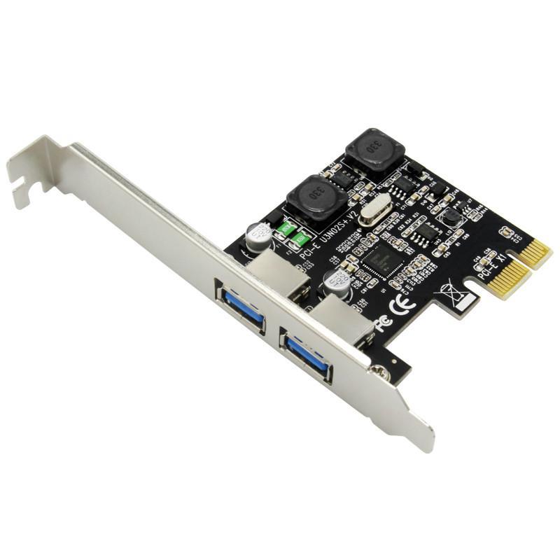 2 puertos USB 3.0 PCI-E tarjeta de expansión PCIe USB 3.0 externo con 2 módulo de alimentación NEC viruta por un PC de escritorio del ordenador de alta calidad