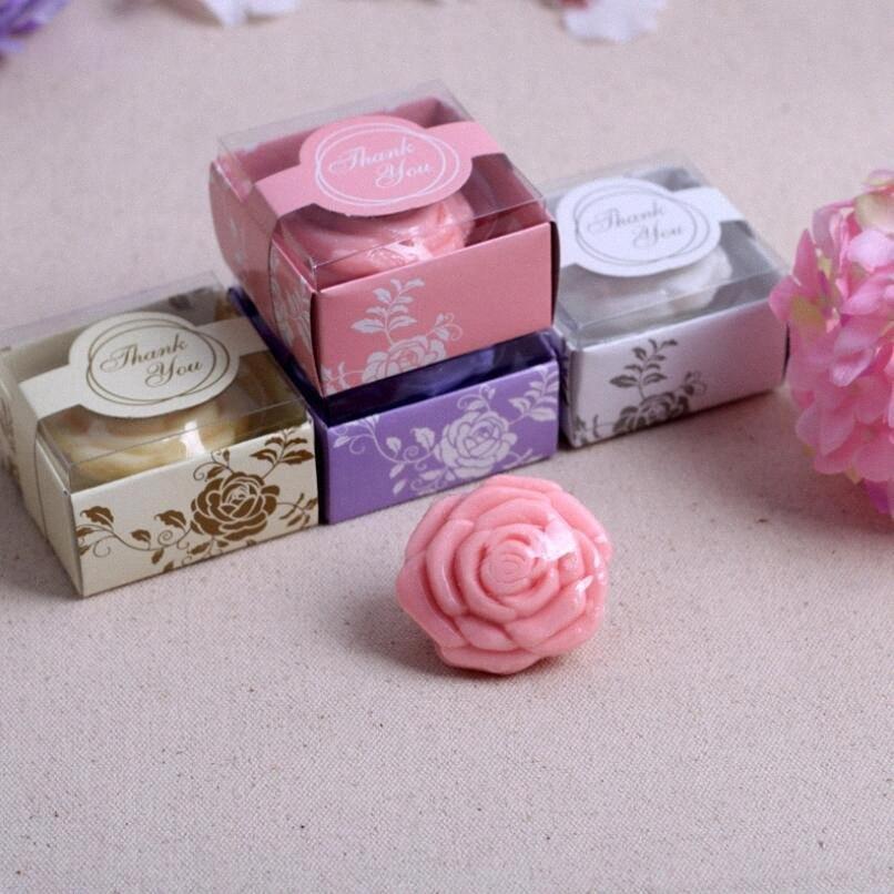 Handgemachte Rose geformt Design Bad Soap Hochzeit Geburtstag Valentine Partei-Bevorzugung Geschenk-Großhandel LX7124 SNEN #