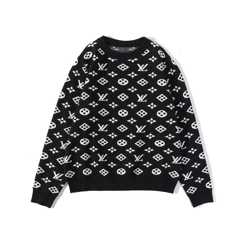 2020 suéter nuevo famosa carta de diseño para los hombres y mujeres de alta calidad alrededor del cuello de manga larga jersey de punto bordado ocasional del tamaño sudadera
